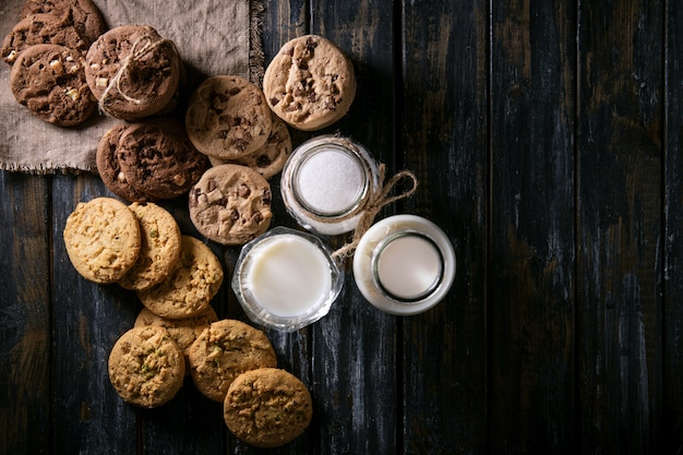 Cookies Au Chocolat Faits Maison Photo Premium