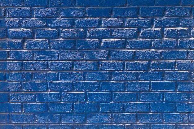 Copie Espace Vue De Face Mur De Briques Bleu Photo gratuit