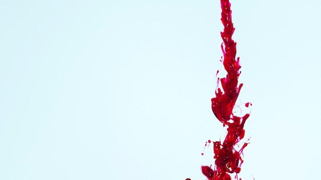 Copier l'espace bleu avec une ligne de sang abstrait Photo gratuit