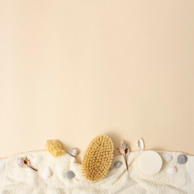 Copier l'espace avec des produits aromatiques spa Photo gratuit