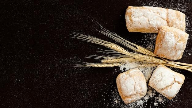 Copier le fond de l'espace avec du blé Photo gratuit