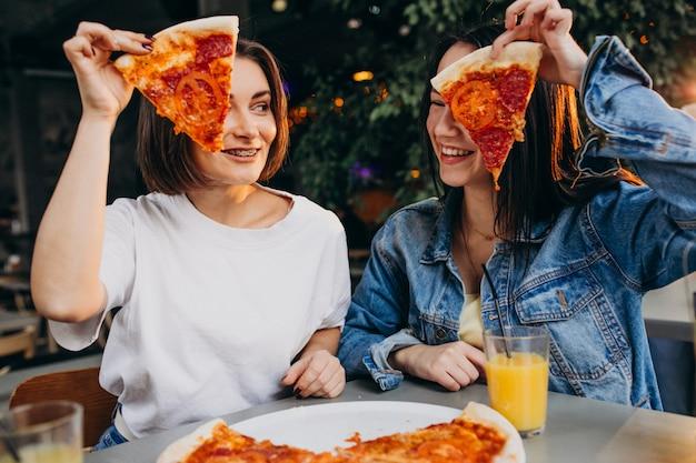 Copines, Avoir, Pizza, Barre, Midi Photo gratuit