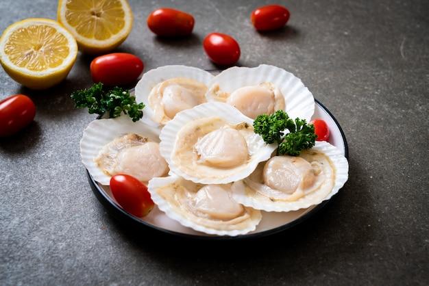 Coquilles saint-jacques fraîches Photo Premium