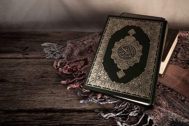 Coran - livre sacré des musulmans Photo Premium