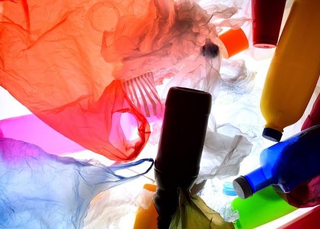 Corbeille plastique rétro-éclairage Photo Premium