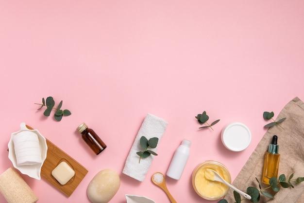 Cosmétiques Bio écologiques Sur La Table Photo Premium