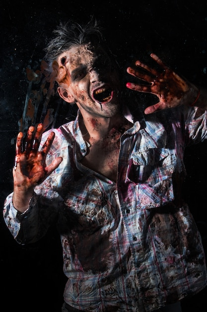 Costume De Zombie Effrayant Cosplay Photo gratuit