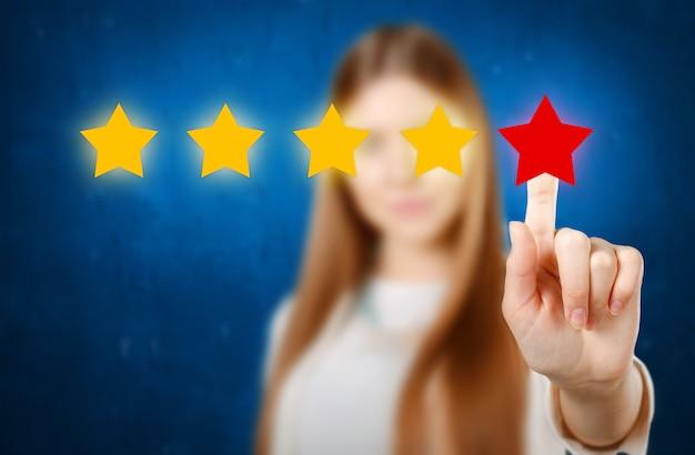 Cote Femme Avec étoiles Dessinées à La Main Photo Premium