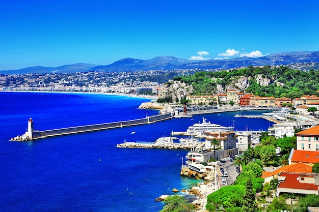 Côte Pittoresque De Nice, Côte D'azur Photo Premium