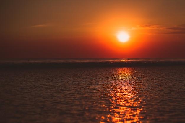 Le coucher du soleil Photo gratuit