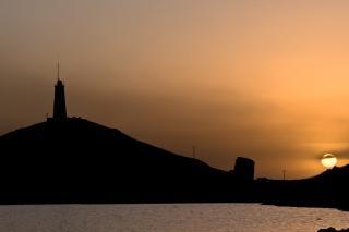 Coucher de soleil à la péninsule de reykjanes, falaises Photo gratuit