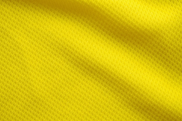 Couleur Jaune Football Jersey Vêtements Tissu Texture Sports Portent Fond, Gros Plan Photo Premium