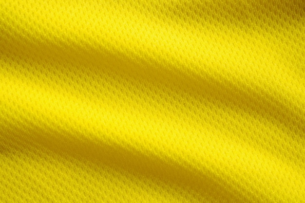 Couleur Jaune Football Jersey Vêtements Tissu Texture Vêtements De Sport Photo Premium