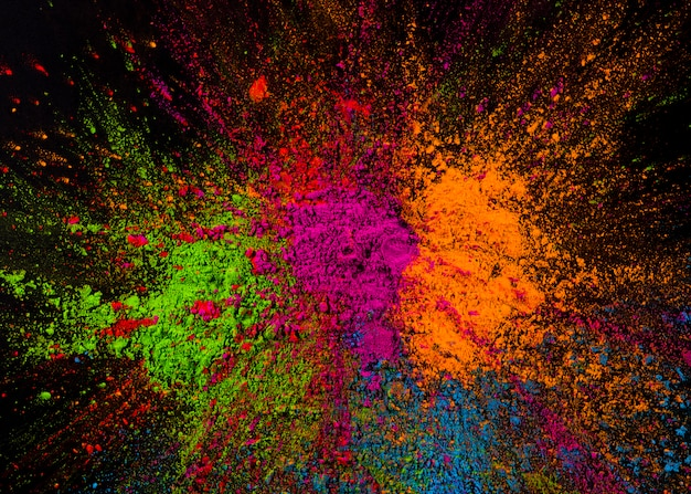 Couleurs holi éclaboussées multicolores Photo gratuit
