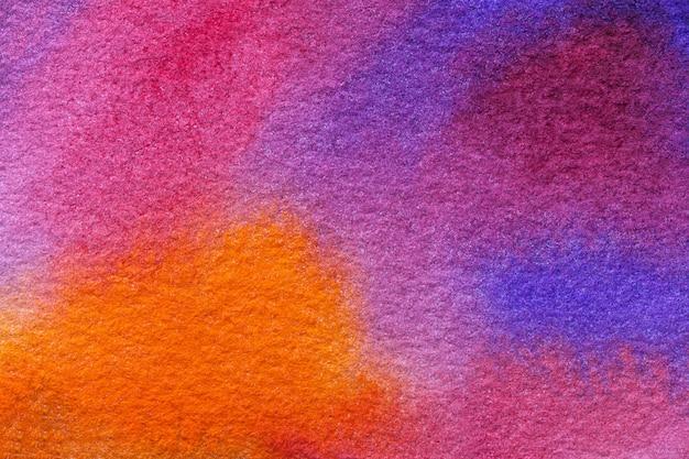 Couleurs pourpres et bleu clair d'art abstrait, aquarelle sur toile, Photo Premium