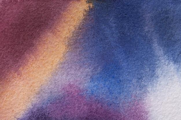 Couleurs pourpres et bleu sombres de l'art abstrait Photo Premium