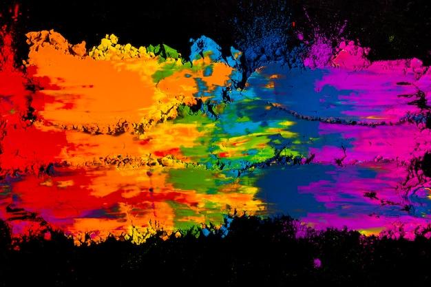 Couleurs vives colorées colorées holi Photo gratuit