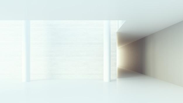 Couloir intérieur / rendu 3d Photo Premium