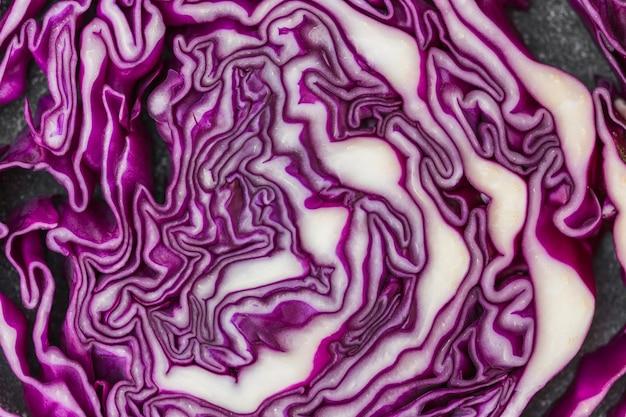 Coup de macro de chou violet en bonne santé Photo gratuit