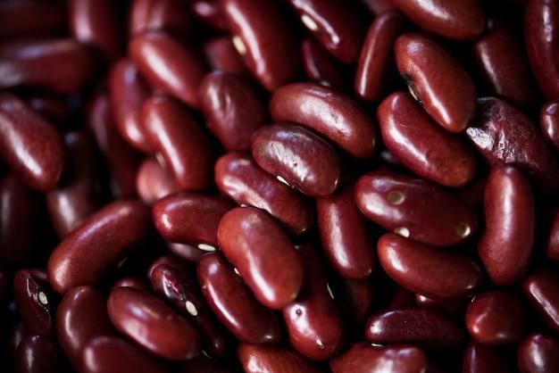 Coup de macro de haricots rouges Photo gratuit