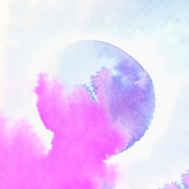 Coup de pinceau aquarelle abstrait bleu et rose couleur humide Photo gratuit