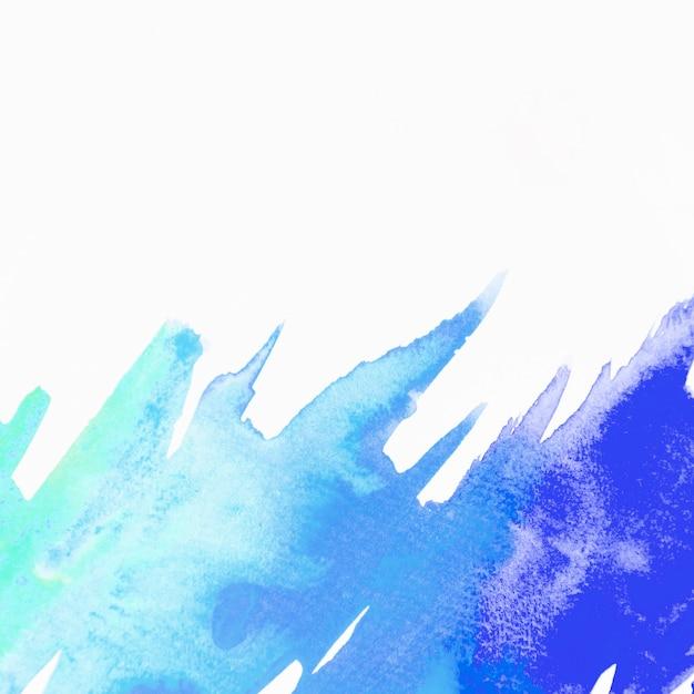 Coup de pinceau aquarelle bleu et vert isolé sur fond blanc Photo gratuit