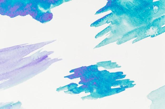 Coup de pinceau bleu isolé sur fond blanc Photo gratuit