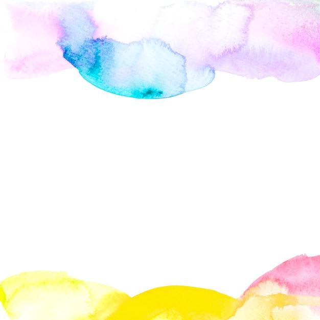 Coup de pinceau sur la bordure de fond blanc Photo gratuit