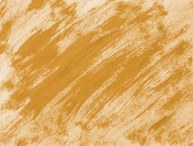 Coup de pinceau orange abstrait Photo Premium