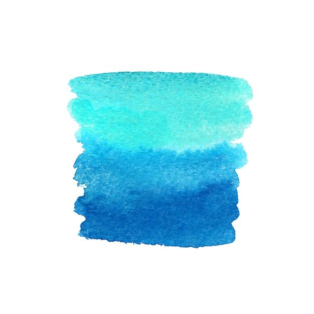Coup de pinceau peint en bleu. texture de peinture aquarelle. Photo Premium