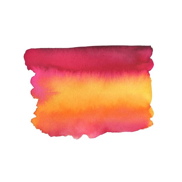 Coup de pinceau peint. texture de peinture aquarelle. Photo Premium