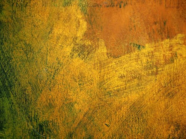 Coup de pinceau peinture à l'huile doré coloré Photo Premium