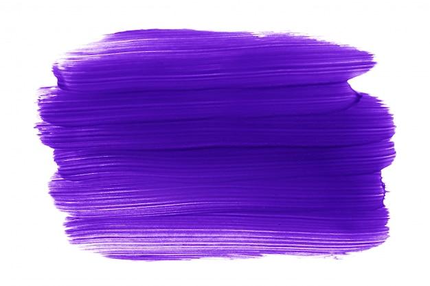 Coup de pinceau de peinture ou de rouge à lèvres violet isolé on white Photo Premium