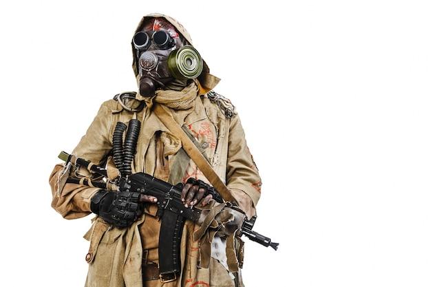 Coup de studio de survivant nucléaire Photo Premium