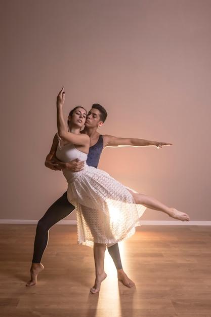 Couple, danse, vue, performance Photo gratuit