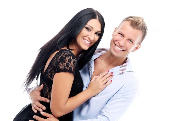 Couple doux et sexy ayant une séance photo en studio Photo gratuit