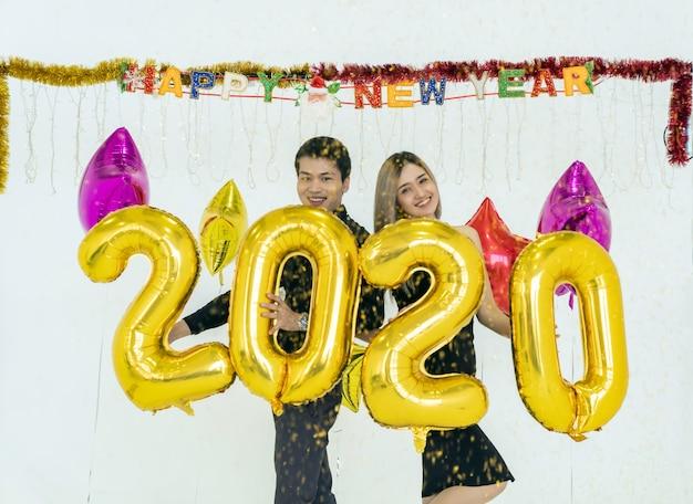 Couple Fête 2020 Photo Premium