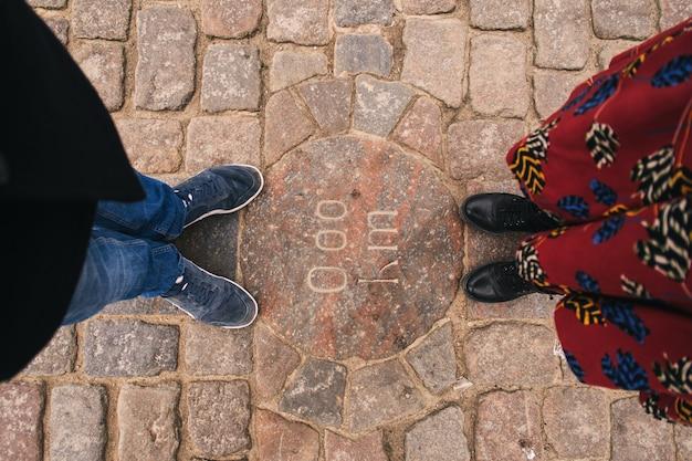 Couple homme et femme pieds Photo Premium