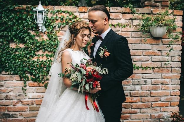 Couple de mariage au jour du mariage Photo Premium