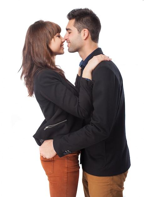 Couple presque embrasser Photo gratuit