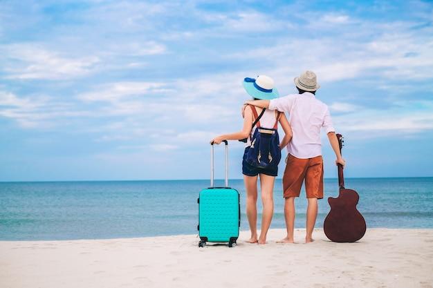 Couple voyageur Photo Premium