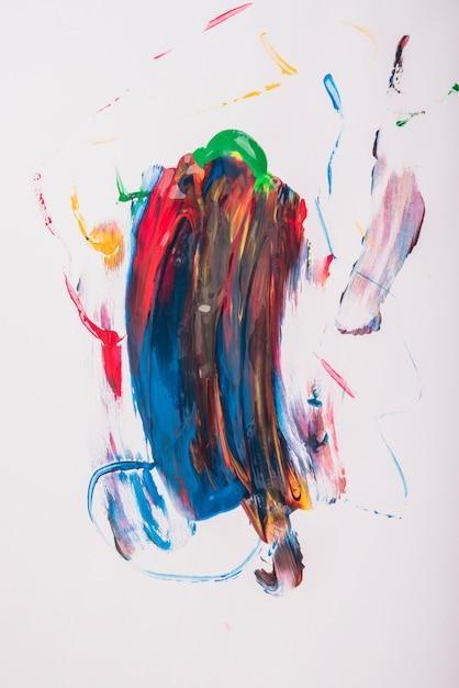 Coups aquarelle de vecteur coloré sur fond blanc Photo gratuit