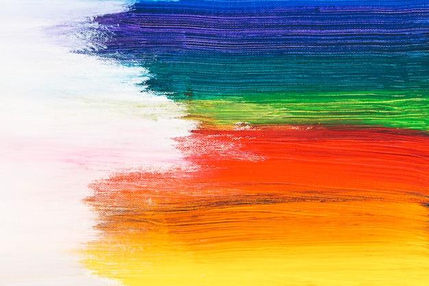 Coups De Pinceaux Colorés Photo gratuit