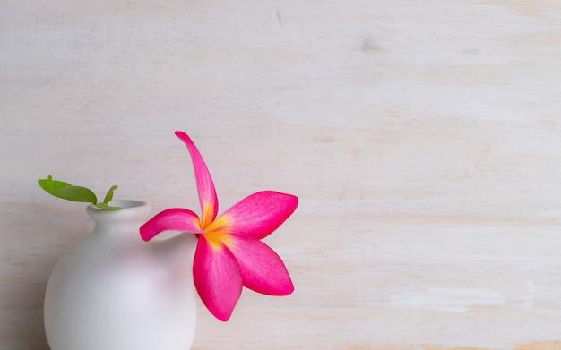 Couronne de feuille rose mis sur la bouteille en céramique et le fond de la nature Photo Premium