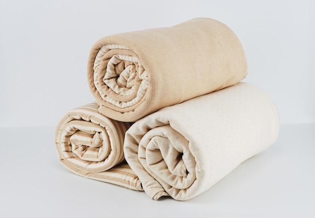 Couverture en coton beige naturel pour enfant Photo Premium