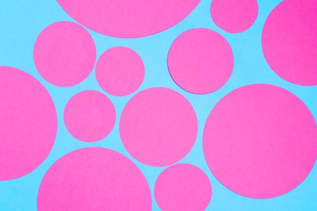 Couverture Transparente Bleue Avec Des Cercles Roses Photo gratuit
