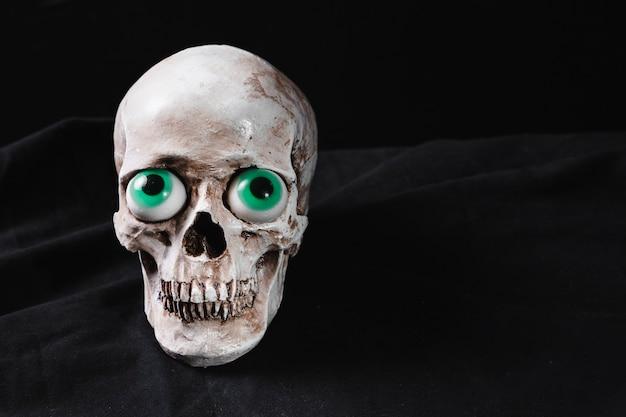 Cranium avec des yeux de jouet Photo gratuit