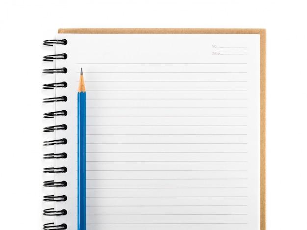 Crayon bleu sur isolant vierge Photo Premium