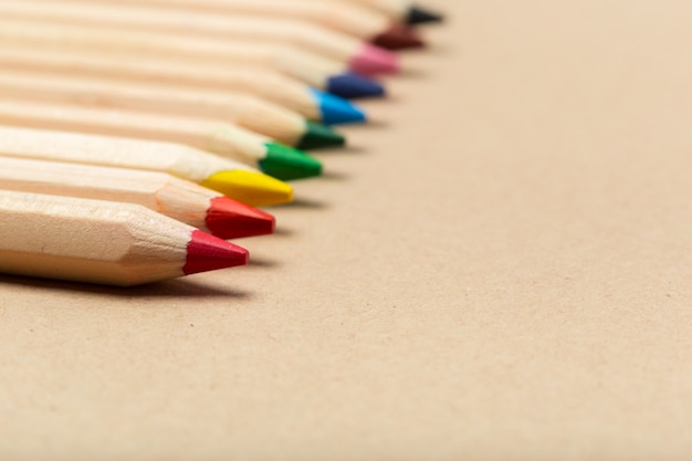Crayons multicolores Photo Premium