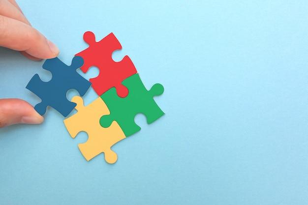 Créer ou construire son propre concept d'entreprise. Photo Premium